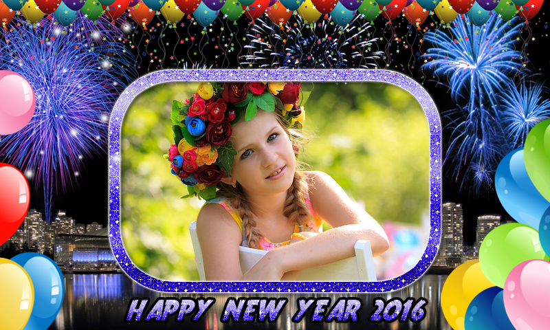 Happy New Year Photo Frames 2016   2016 New Year Frames   Apps Drive ...